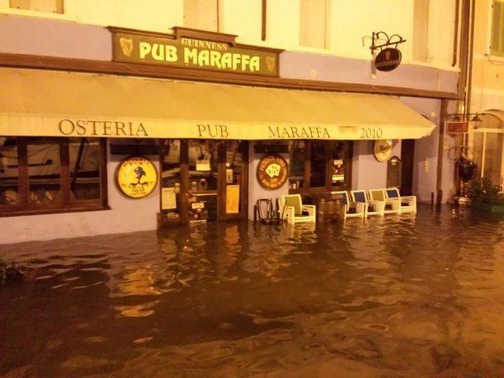 Cesenatico completamente allagata dopo il #maltempo delle scorse ore.  #Cesenatico
