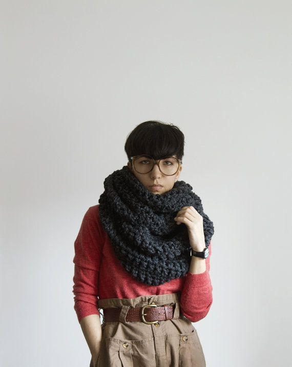 The Pembroke Cowl in Charcoal by Yokoo on Etsy. I need one for those cold Michigan winters!