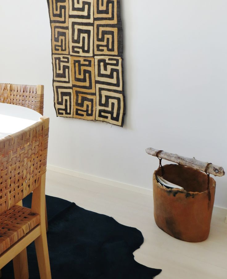 pot, rug, chair and textile