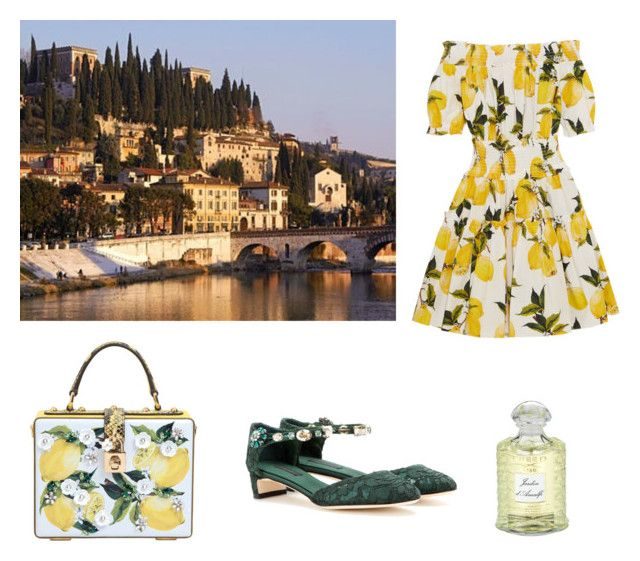 """""""Limone Gelato"""" by aphroditeinsilk ❤ liked on Polyvore featuring Dolce&Gabbana, VERONA and Creed"""