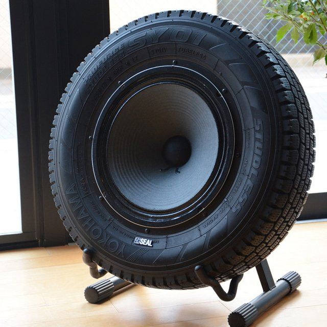 Seal Recycled Tires Speaker #Cool, #Recycle, #Speker, #Tire