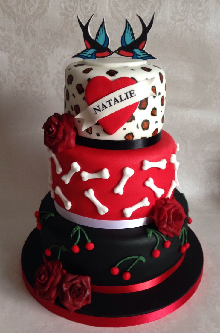 Best Cakes Rockabilly Images On Pinterest Modeling Decorated - Rockabilly birthday cake
