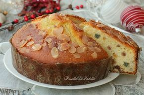 Torta panettone, la torta di Natale. Buona e soffice, con frutta candita e uva passa, ricorda un vero panettone. ideale davanti ad una tazza di tè