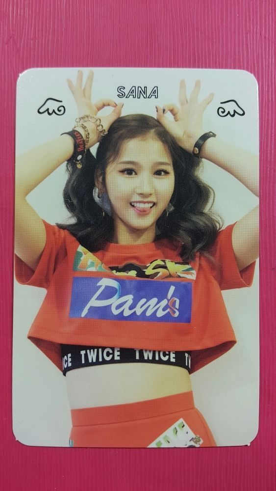 TWICE SANA Official Photocard Red (Adult) Ver. 1st Album The Story Begins