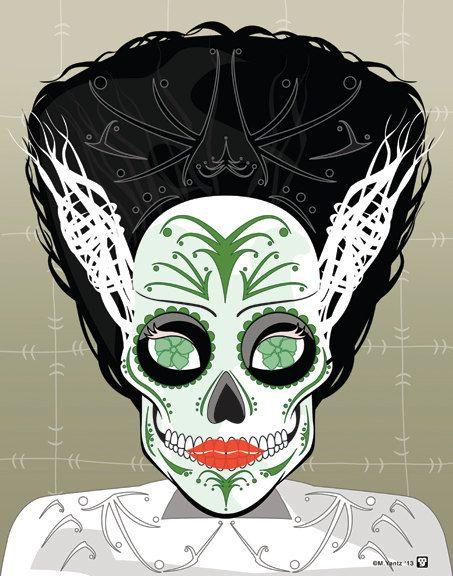 Inspirado en la película La novia de Frankenstein Print    Usted obtiene:  Una alta calidad 11 x 14 impresión, firmado por el artista  Impreso en papel