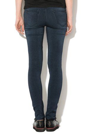 Jeansi skinny albastru inchis Chiara ieftini #pantaloni #jeansi #BlugiDama