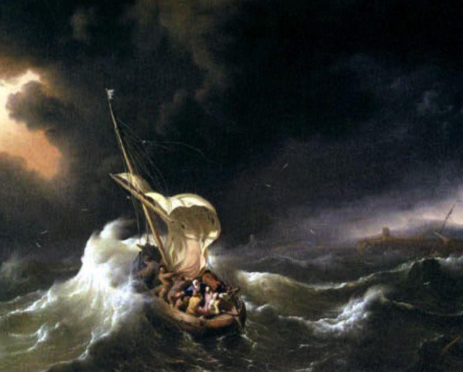 Ludolf Backhuysen Cristo En La Tormenta En El Mar De Galilea 1695 Tormenta En El Mar Mar De Galilea Tormenta