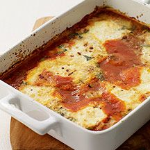 Weight Watchers Recipe   Baked Eggs Italian-Style:  Somewhere between a baked frittata and pastaless lasagna, this casserole is delicious with arugula salad or mixed greens.