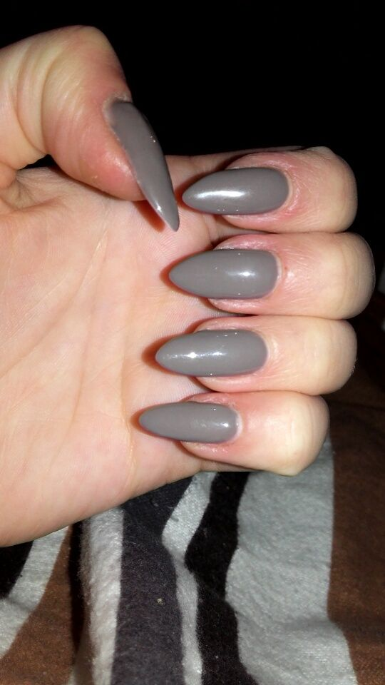 Semilac <3 nr 017 Grey #semilac#szarość#szare#naturalnepaznockie#naturalnails#longnails#długiepaznokcie#semilac017#017grey