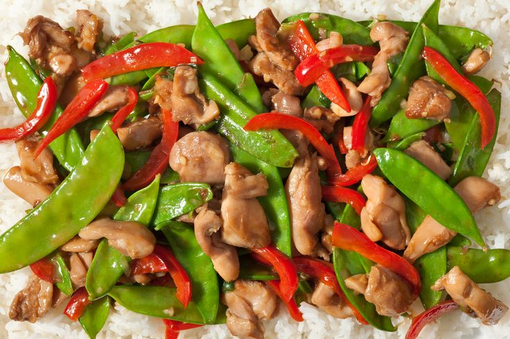 easy chicken stir-fry recipe. I like the idea of using the sauce as a marinade on the chicken. I would have to change up the ingredients, though.