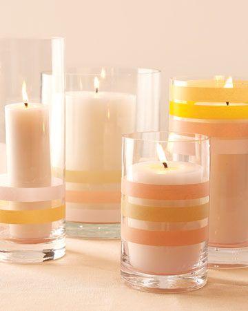 Washi tape candles!!!