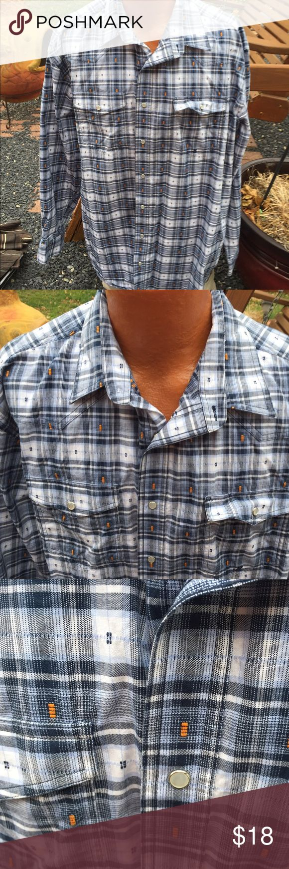 Roper Cowboy Western Snap Shirt Size Mens 2XLT Size 2XLT, 2XL Tall. Gently preowned Roper Shirts Casual Button Down Shirts