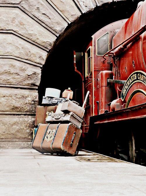 Platform 9 3/4.  En Route to Hogwarts.  Harry Potter.  Modern Girls & Old Fashioned Men
