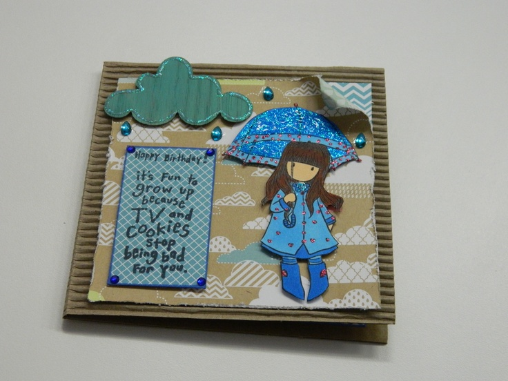 I used a Gorjuss girl stamp to make this card. Gotta love a Gorjuss stamp....they are just so gorgeous! =)