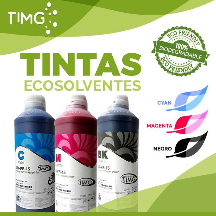 ¿Sabias qué? Las tintas eco -solventes contribuyen con el planeta… Las tintas eco-solventes no liberan COV (compuestos orgánicos volátiles) hacia la atmósfera, no tienen olor alguno, y los líquidos solventes usados en su composición son 100% biodegradables. Adquiere plotter eco-solventes y sus tintas en #tiendasTIMG y también contribuye con el planeta. Para saber más sobre este producto ingresa a http://www.suministro.cl/SearchResults.asp?Search=Tinta+Ecosol…