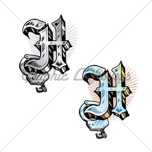 Letter H Tattoo Ideas Tattoo designs for men - Letter H Designs Tattoo