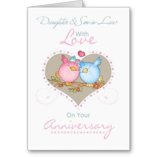 3rd Wedding Anniversary Gift Ideas For Son And Daughter In Law : Daughter And Son-in-Law Anniversary Card With Love Daughters ...