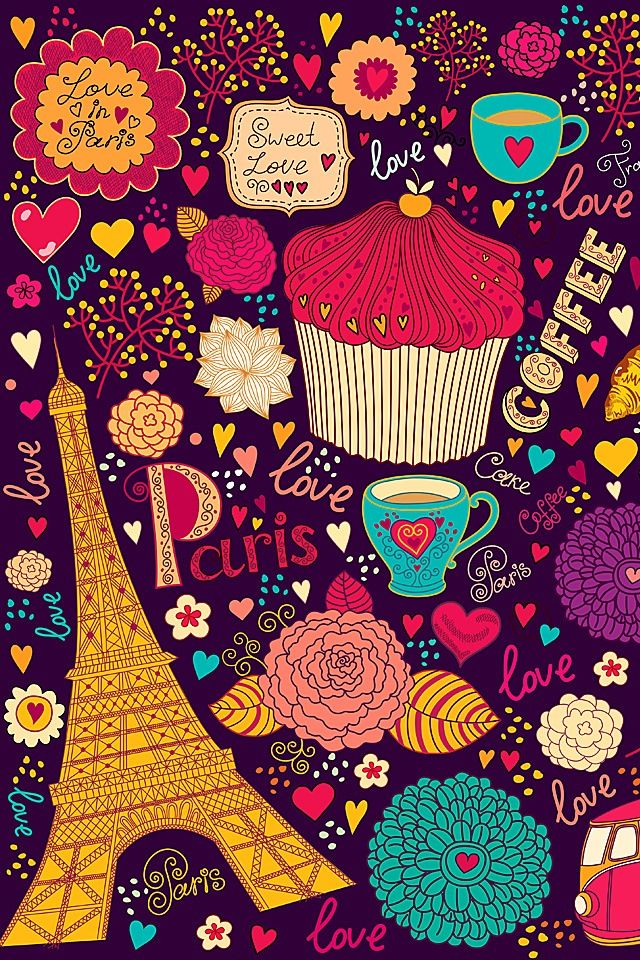 Girly Love Wallpaper : coffee, cupcakes, girly, love, paris, tea, tumblr, wallpapers cupcake Pinterest Wallpapers ...