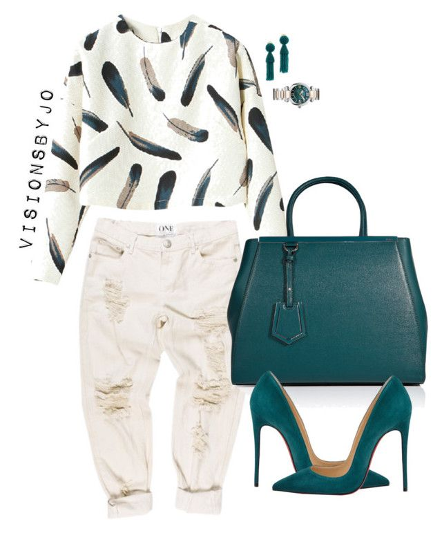 """Untitled #1455"" by visionsbyjo on Polyvore featuring Fendi, Christian Louboutin, Oscar de la Renta, Chopard, women's clothing, women's fashion, women, female, woman and misses"