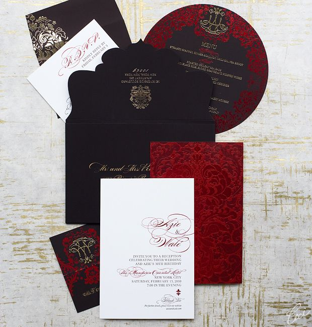 black and red wedding invite to give you an idea a ceci couture invitation