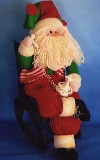 Las chorradikas de Laury: Patrón Papa Noel descansando