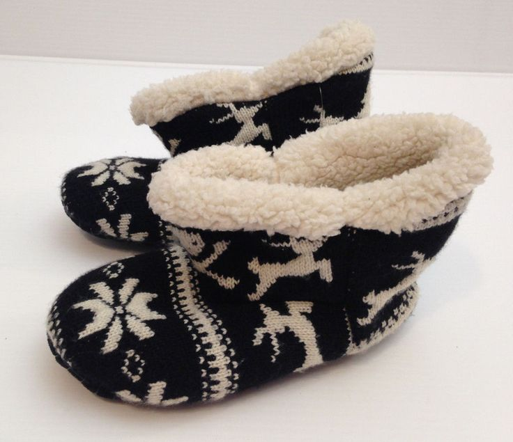 VANS Shoes Keep Cozy Winter Slipper Boots Black White Size Small 6- 6.5 USA  #VANS #SlippersBoots