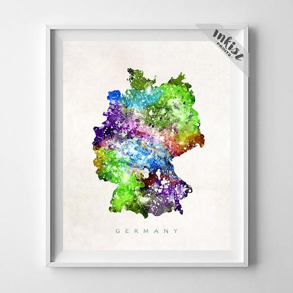 Germany Map, Berlin Print, Germany Poster, Berlin Map, Travel Poster, Watercolor Map, State Art, Home Decor, Map Poster, Christmas Gift, Wall Art. PRICES FROM $9.95. CLICK PHOTO FOR DETAILS. #inkistprints #map #watercolor #watercolour #giftforher #homedecor #nursery #wallart #walldecor #poster #print #christmas #christmasgift #weddinggift #nurserydecor #mothersdaygift #fathersdaygift #babygift #valentinesdaygift #dorm #decor #livingroom #bedroom