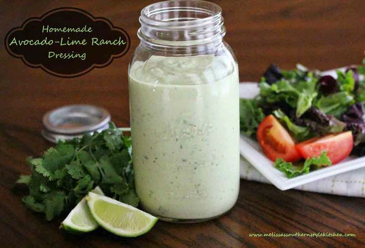 Homemade Avocado Lime Dressing - this looks amazing!