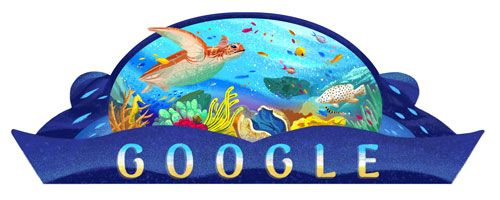 Australia Day 2017  Date: January 26 2017  Todays Doodle celebrates Australia Day by honoring the lands most awe-inspiring feature: its big blue backyard and treasured natural World Heritage Site: the Great Barrier Reef. This vast underwater world is home to a whole host of protected and majestic creatures including the green turtle pipefish barramundi cod potato cod maori wrasse giant clam and staghorn coral to name a few. Made up of over 2900 individual reefs the earths largest coral reef…