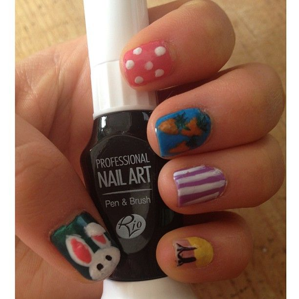 107 best rio nail art images on pinterest nail art pen penne photo by hannahwtmf easter nail art using rio nail art pens prinsesfo Gallery