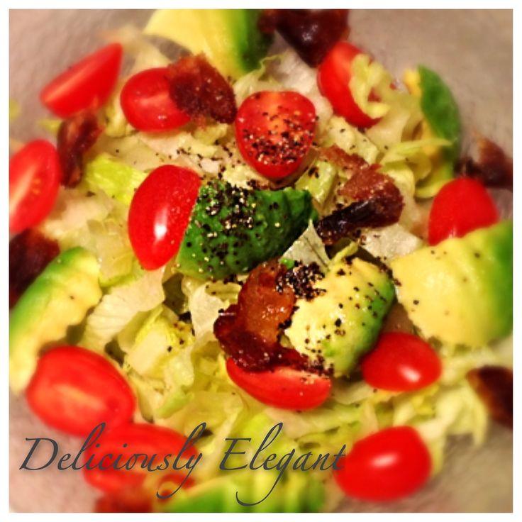 Romaine Avocado Salad | Healthy Vegan Recipes | Pinterest