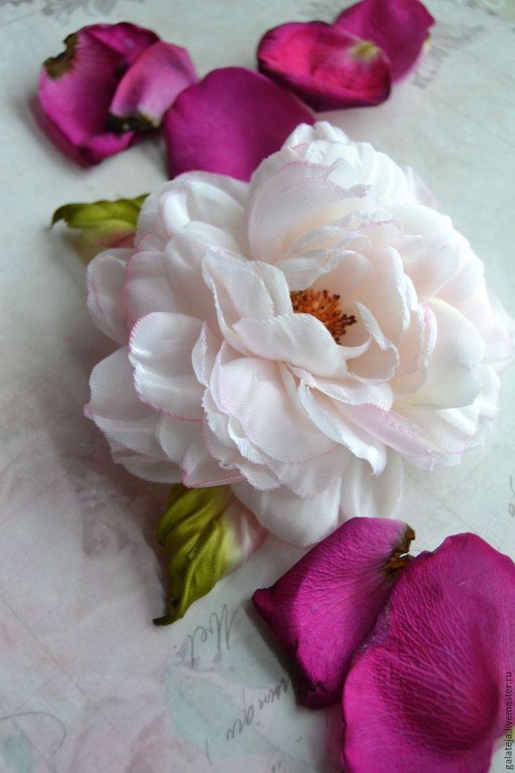 Создаем брошь-розу из шелка «Маркиза» - Ярмарка Мастеров - ручная работа, handmade