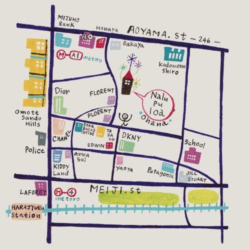 Nalu Pu Loa ナルー・プ・ロア  Access Map