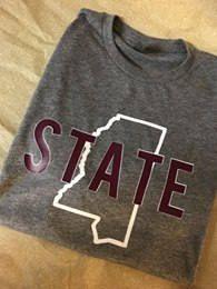 Mississippi State University Shirt, MSU Shirt, Mississippi Bulldog shirt, Mississippi State Shirt, MS state Shirt, Dawgs Shirt, MS football by BeesTeesandThings on Etsy