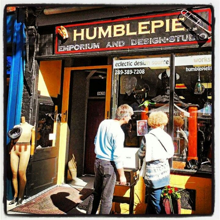 Humblepie Store Front. Signage created by Humblepie.James St.North.  Hamilton, Ontario