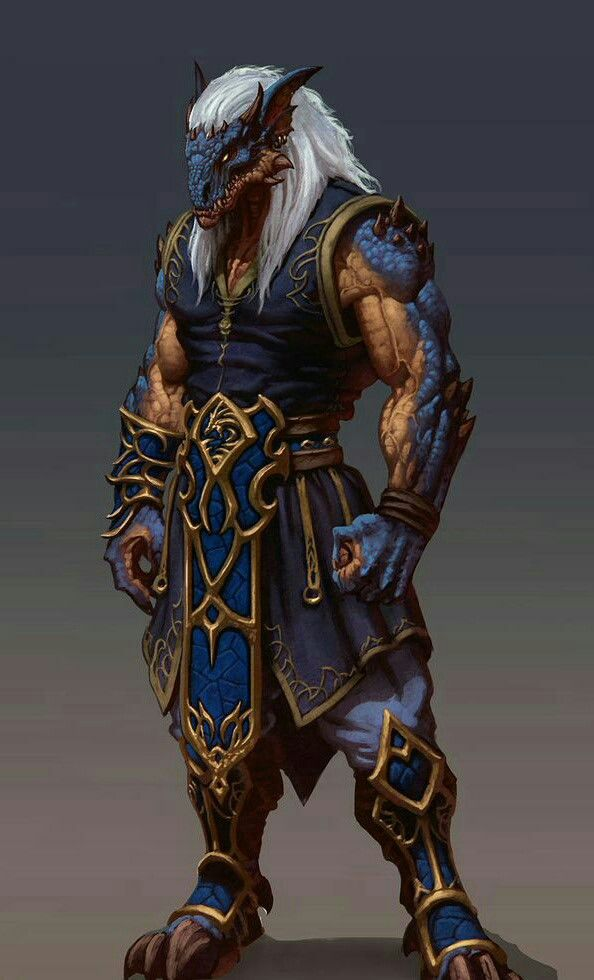 Half-Dragon Monk - Pathfinder PFRPG DND D&D d20 fantasy ...