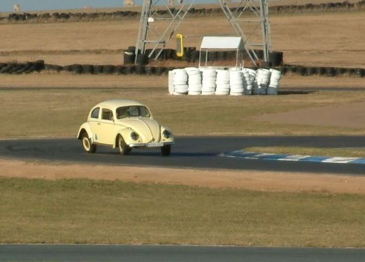 "My first track outing in the Bug back in 2010, Wakefield Park at the ""Fish-hook"""