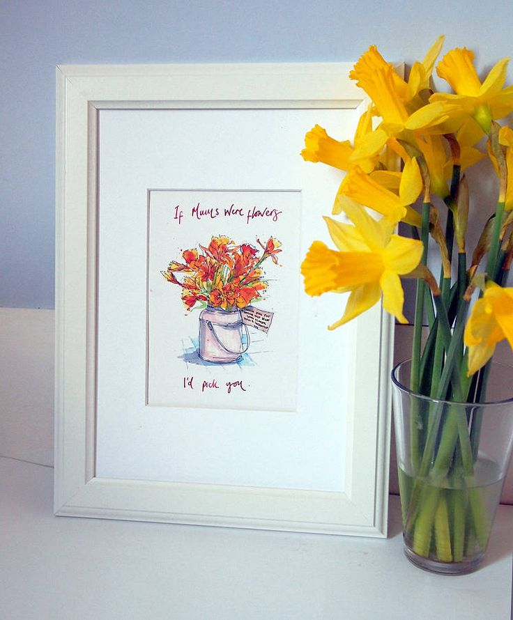 personalised bunch of flowers print by homemade house | notonthehighstreet.com