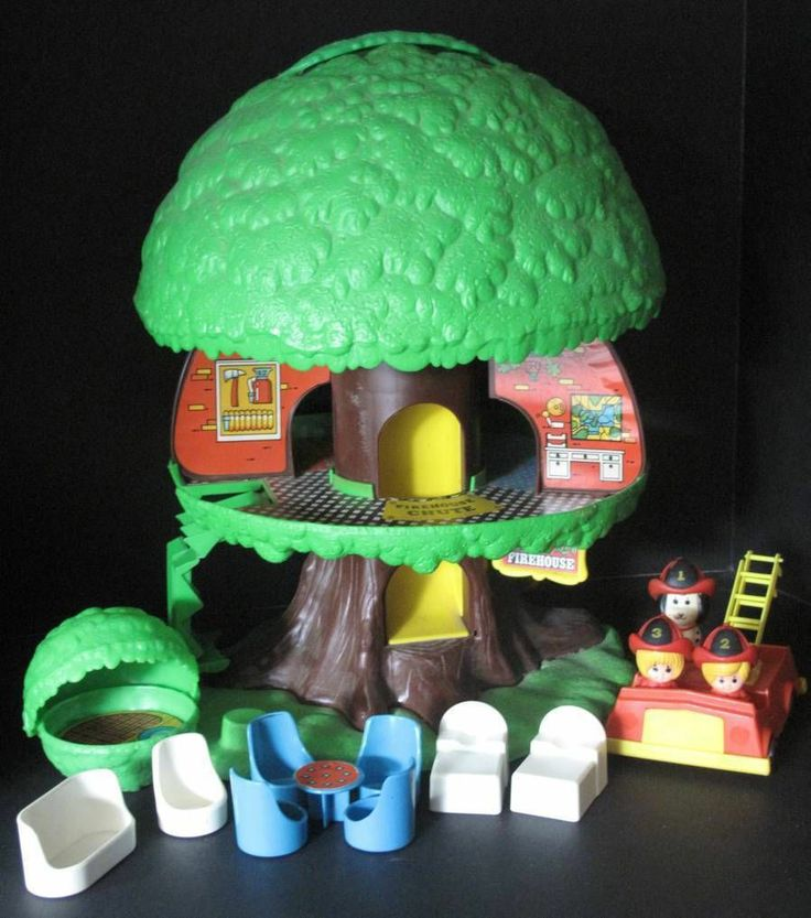 Kenner Treehouse Part - 17: Vintage 1975 Kenner Tree Tots Tree House Treehouse Playset Loaded U0026 Nice