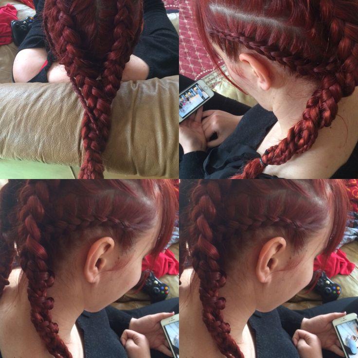 #braids#readhead#lovely#hairart