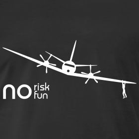 No Fun, No Risk ! | Pilotman.net Official Shop - Great Aviation T-shirt at the lowest prices!