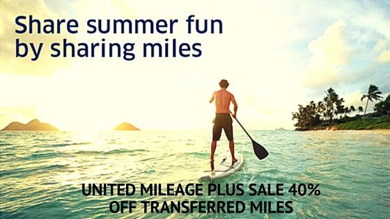 United Airlines Mileage Plus award Miles transfer at 40% discount. #UnitedAirlines #MileagePlus