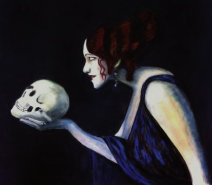 Snapple - Hasta la vista, Baby!, 2013, Pastel on velour-paper, 68 x 71 cm. Based on Franz von Stuck, Tilla Durieux als Circe, 1913, Alte Nationalgalerie Berlin. Courtesy of Egbert Baqué Contemporary Art, Berlin.