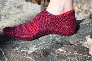 """""""Options"""" Slipper Pattern: A pattern where you make the choices! Knit the top part of the slipper, choose the type of sole you want: Knit, Crochet, or cut out of a pre-felted sweater. Select the method that you want to join the top and sole too! Very clear instructions as well as photos are provided for all choices. You will even see my top-secret tip (shhhh!) on making your slipper non-skid. This pattern is very, very easy but will make your friends and family ooh & aah when they recieve..."""