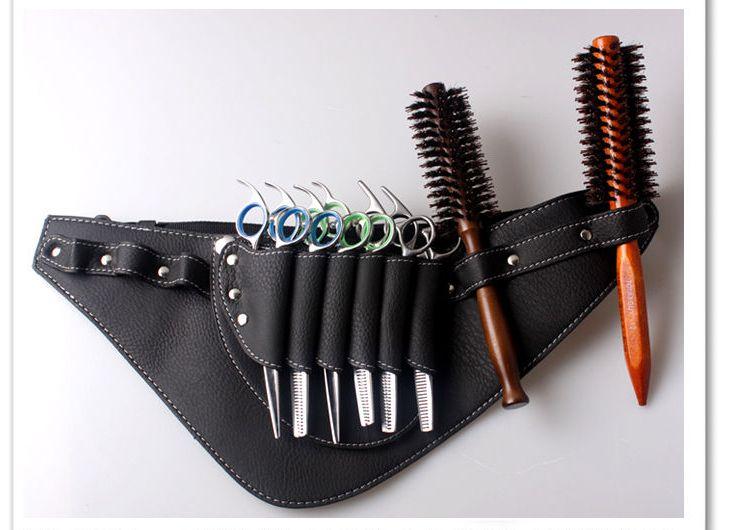 Pengiriman gratis Salon gunting tukang cukur tas gunting klip gunting geser tas perkakas, Hairdressing sarung kantong kasus pemegang, Sabuk B31