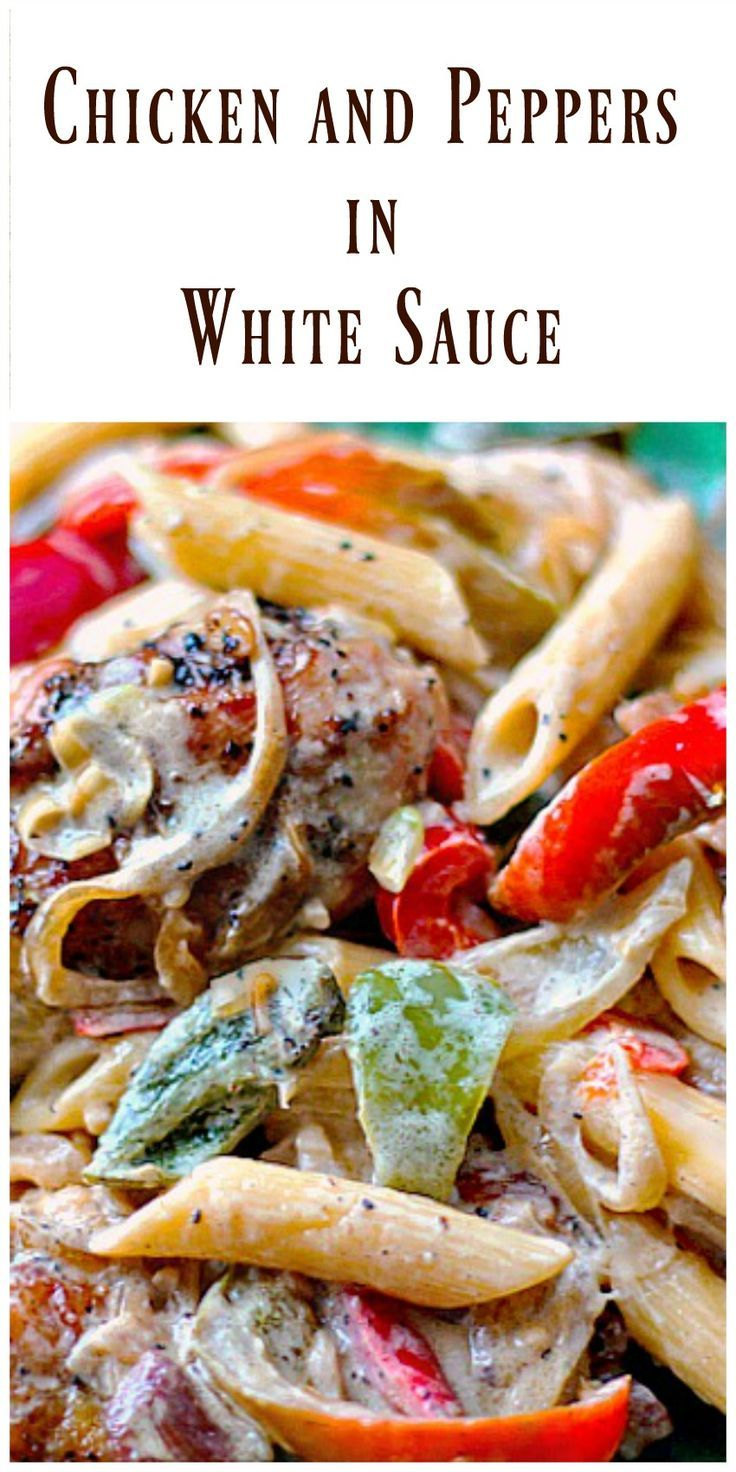 Chicken and Peppers in White Sauce is a delicious dinner! The sauce has a…