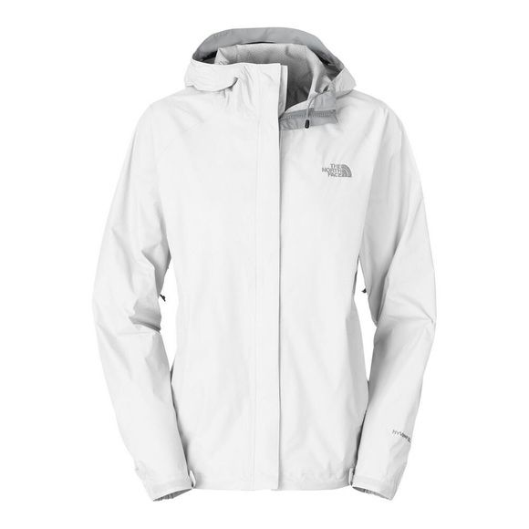 "North Face ""Venture"" jacket White north face rain jacket, zip vents under arms. Perfect condition with light wear on wrist of sleeves. The North Face Jackets & Coats"