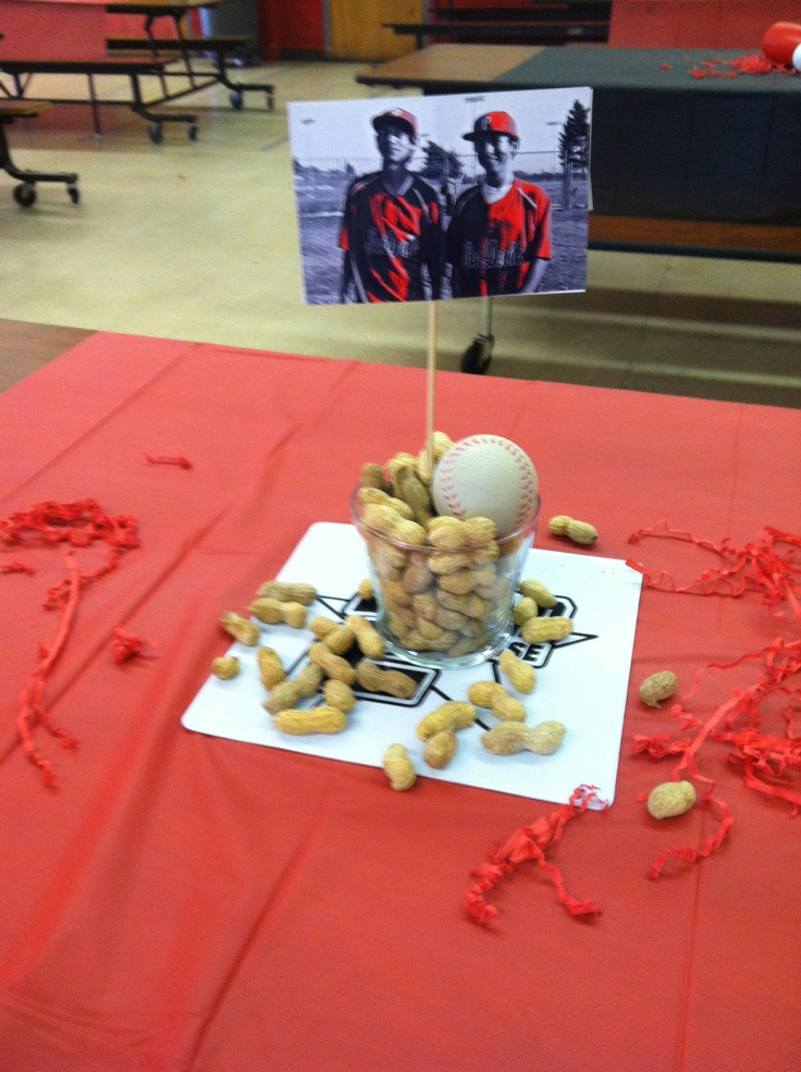 Baseball banquet centerpiece creative thinking my
