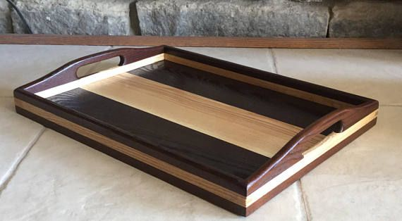 Serving Tray, Wood Serving Tray, Wedding Gift, tea tray, Home Decor,  Trays and platters, Interior design, Centre Piece, Smoked Ash and Ash