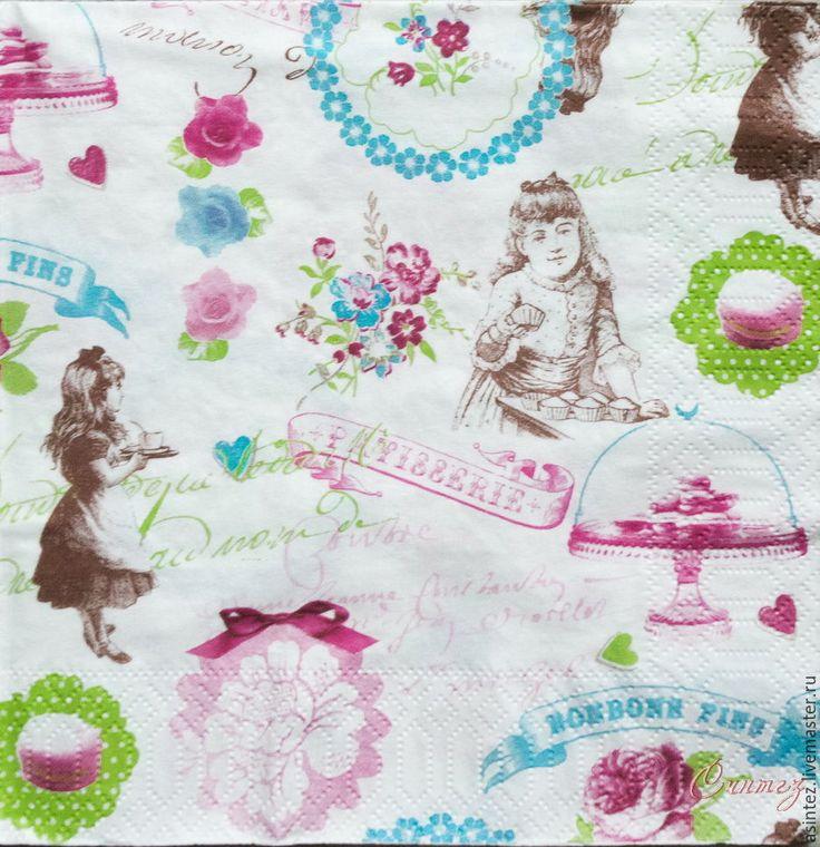 Buy napkin for decoupage vintage shabby decoupage tea party napkins